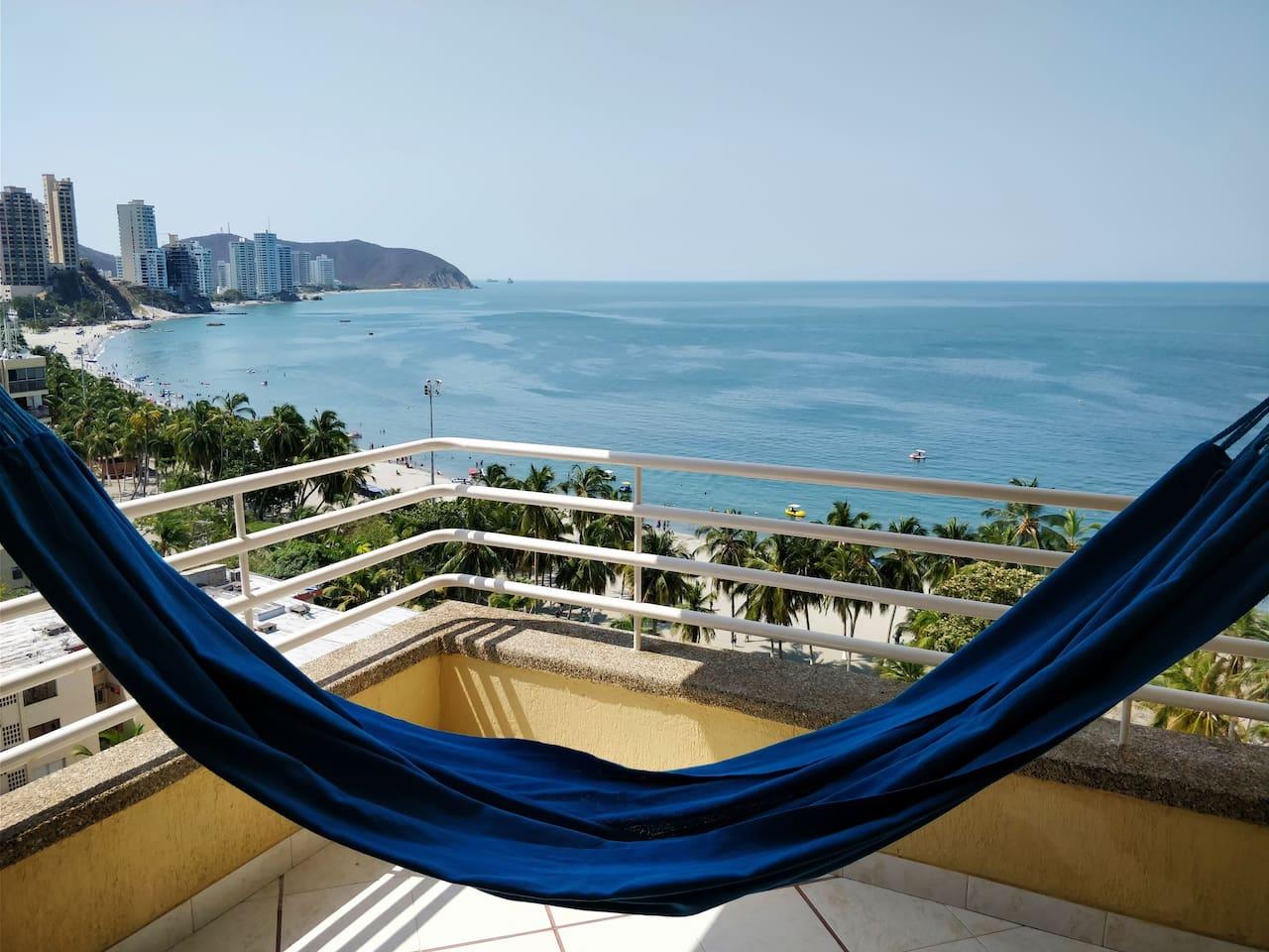 Vista desde el balcón del apartamento.
