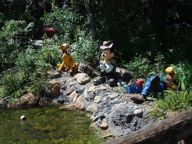 Mickey, Goofy & Pluto enjoying some fishing
