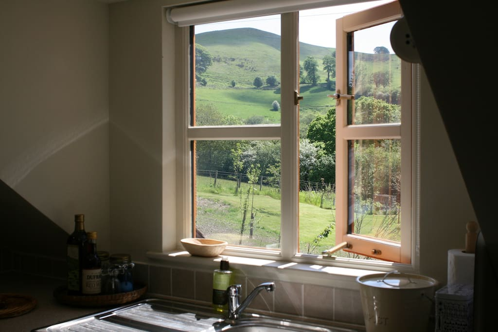 Linley Hill from the kitchen