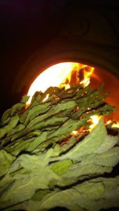 An evening fire