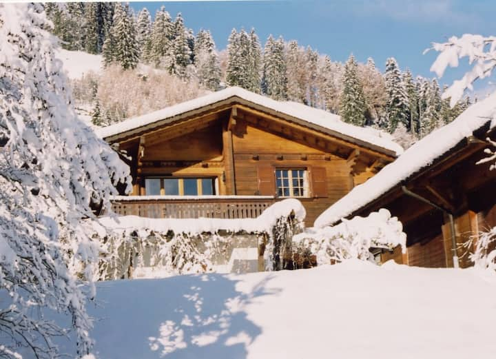Swiss Alpine Chalet | Indoor Pool & Sauna | 9 pax