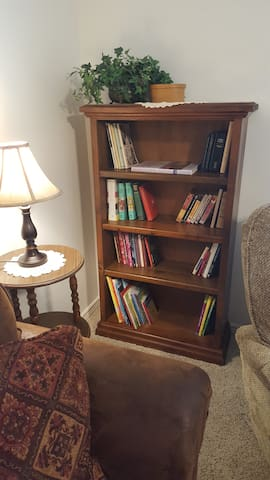 Relax with a book from our little library.