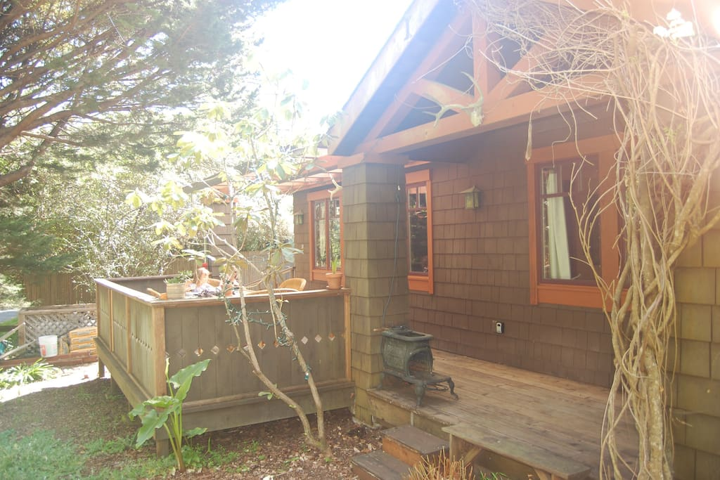 Front of house with deck