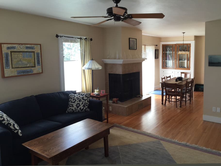 Spacious living area that open onto a wrap around back deck, perfect for summer barbeque.