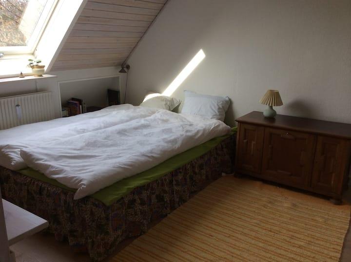 Lyst og hyggeligt værelse