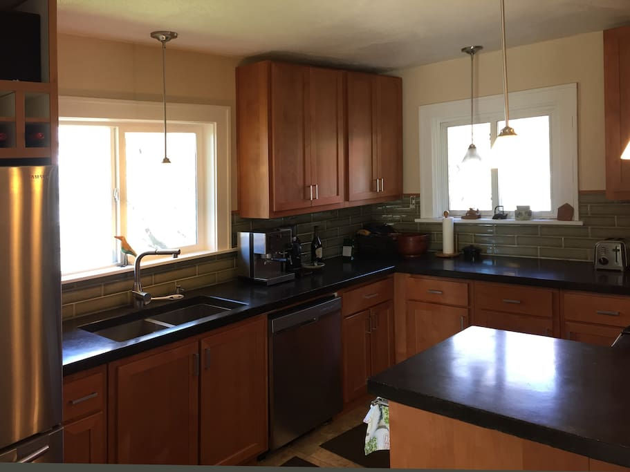 Newly remodeled kitchen with updated appliances.