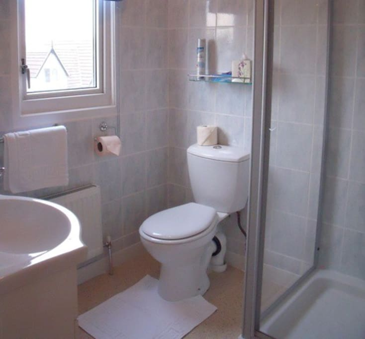En-suite shower room with all towels and toiletries provided