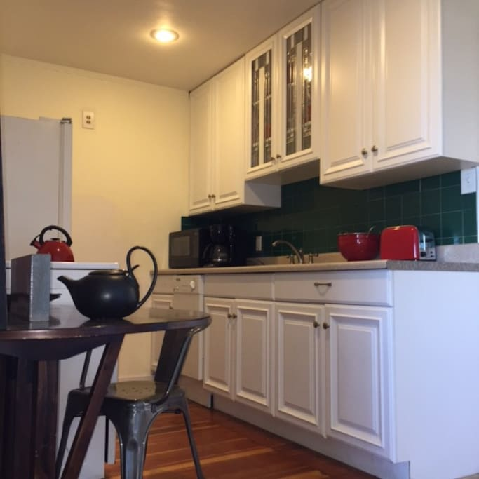 The kitchen is equipped with a dishwasher