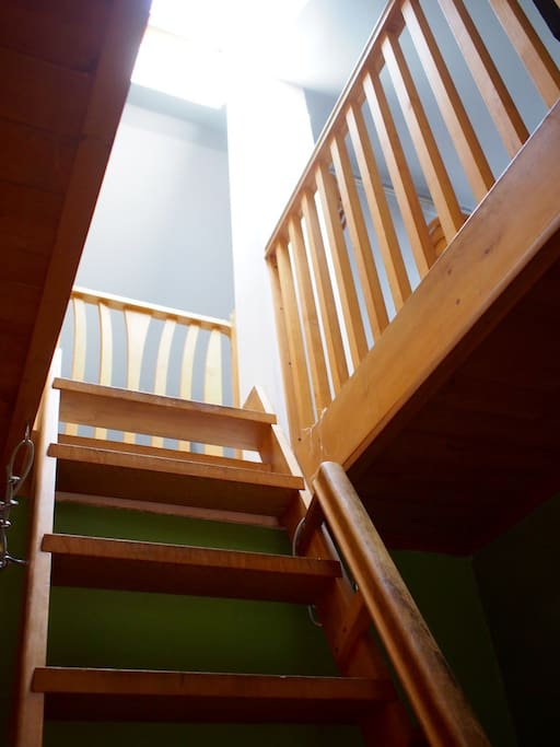 Stairway/ladder to upstairs bedrooms.