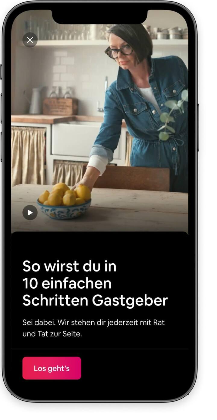 Einführung ins Gastgeben mit einem Begrüßungsvideo in der Airbnb-App