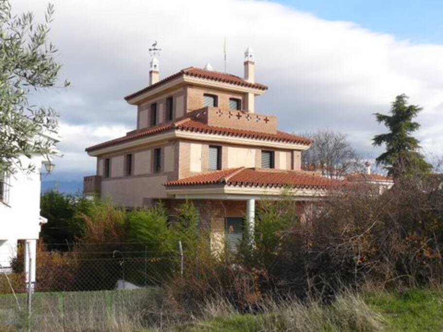 Vista posterior de la casa
