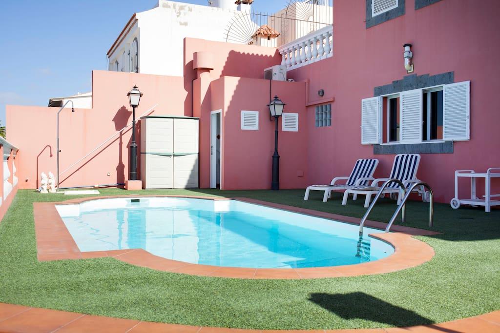 Villa en maspalomas piscina privada ville in affitto a for Villas con piscina privada en fuerteventura