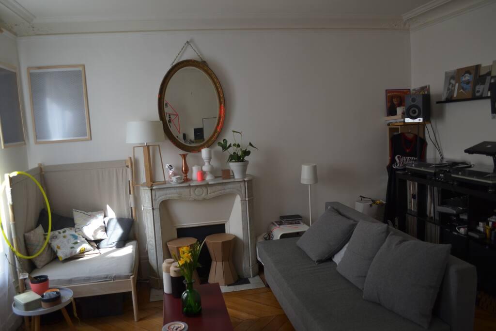 Living avec canapé-lit et sofa d'angle