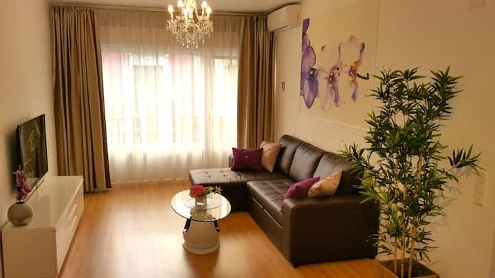 Apartamento de un dormitorio con balcón.