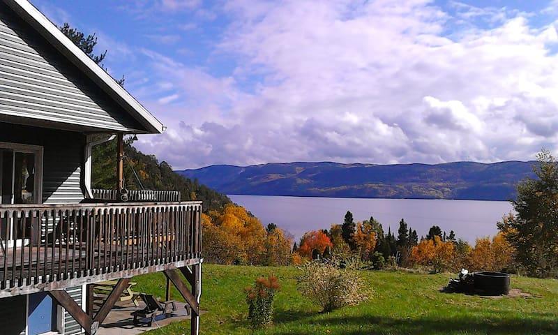 Montagne vue Fjord Saguenay - Sainte-Rose-du-Nord