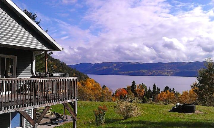 Montagne vue Fjord Saguenay