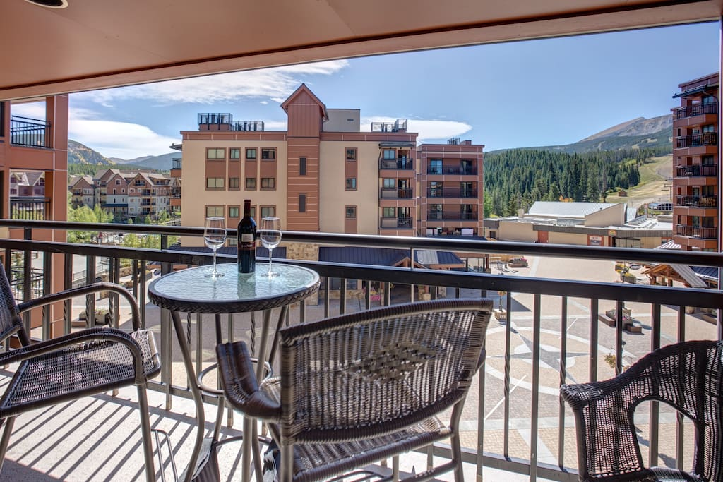 Spectacular View from on of 3 Balconies!