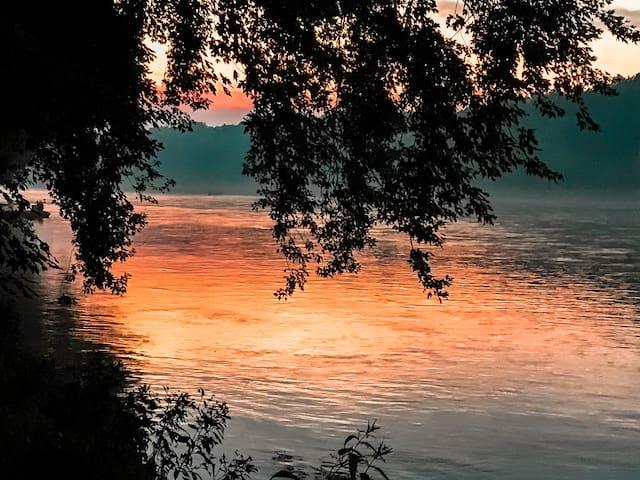 Evening river views.