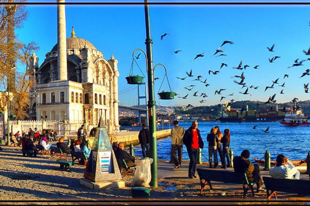 Ortakoy, 20 minutes away by walking