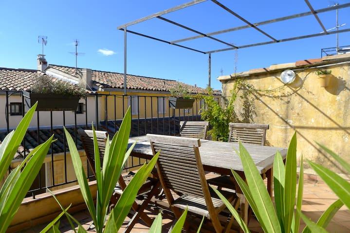 Chambre sdb priv e acc s terrasse appartements louer - Chambre d agriculture aix en provence ...