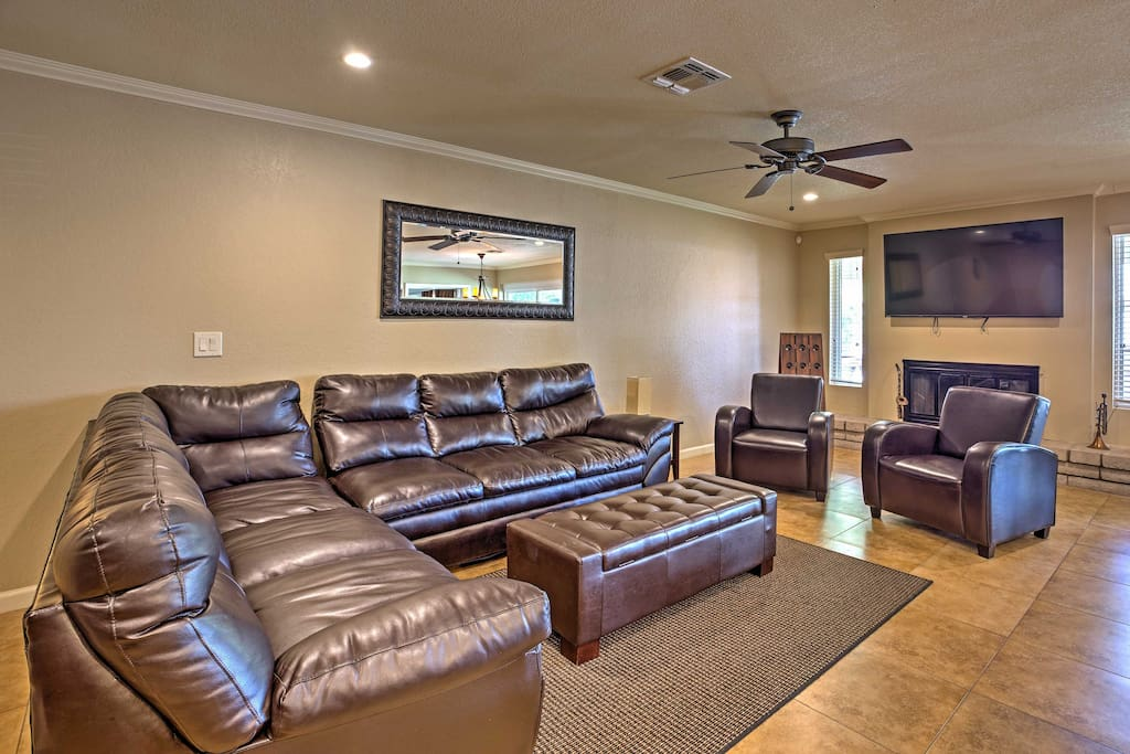 The 2,520-square-foot home has been completely renovated for your comfort and entertainment.