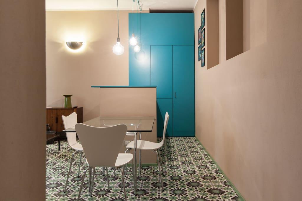 Sala con cucina