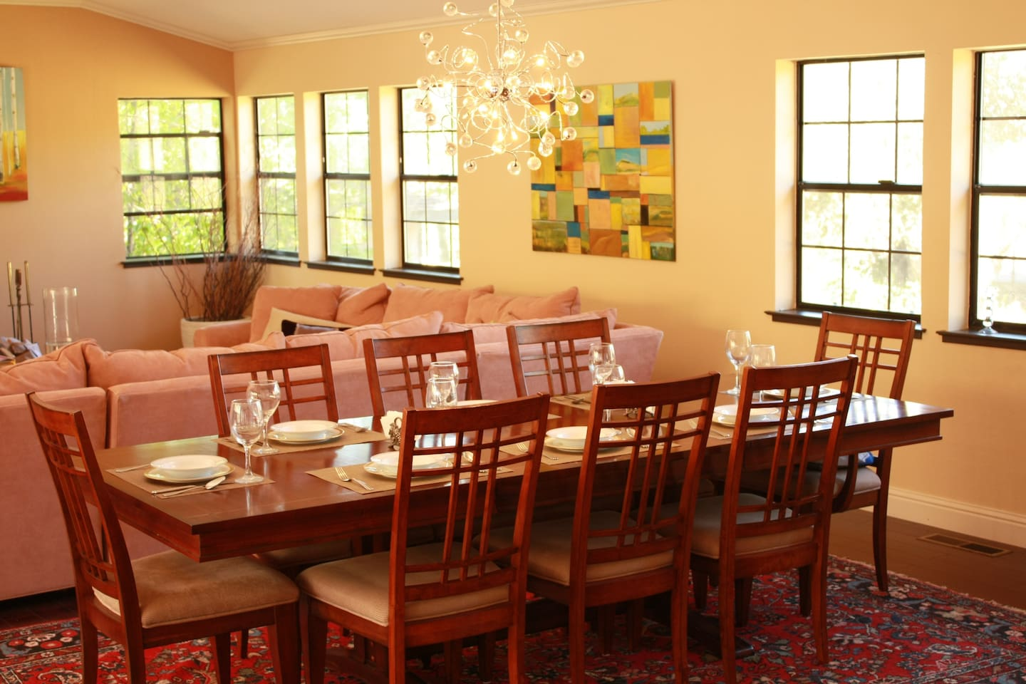 Enjoy a wonderful dinner with a splash or two of wine