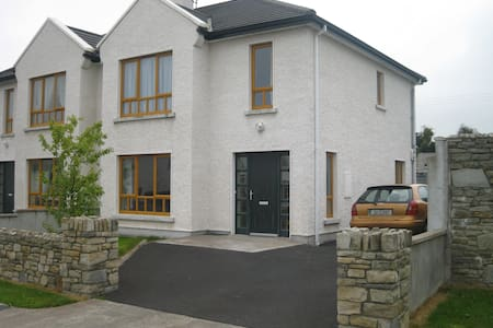 The perfect base for exploring the Wild Atlantic Way in Mayo & Sligo. Situated in a quiet estate we are just 15 mins walk to centre of Ballina, 7 mins to beautiful playground, 5 mins drive to Beleek Woods, 10 mins drive to the beach, and much more..