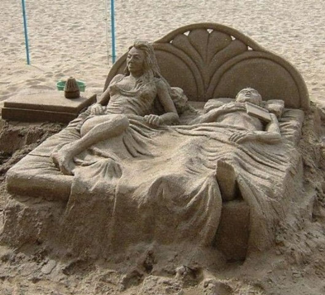 Annual Sand castle competition in Galveston.