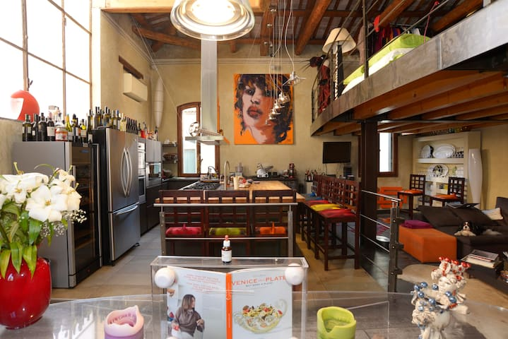 Beautiful Central Loft with Garden - Venedig - Loft