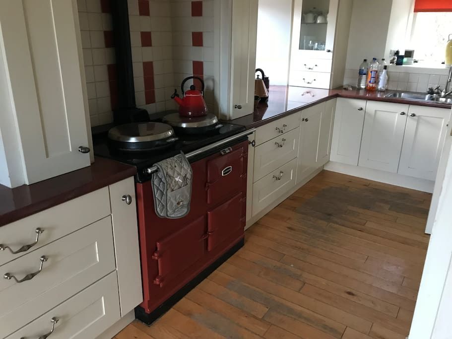 Kitchen including Aga
