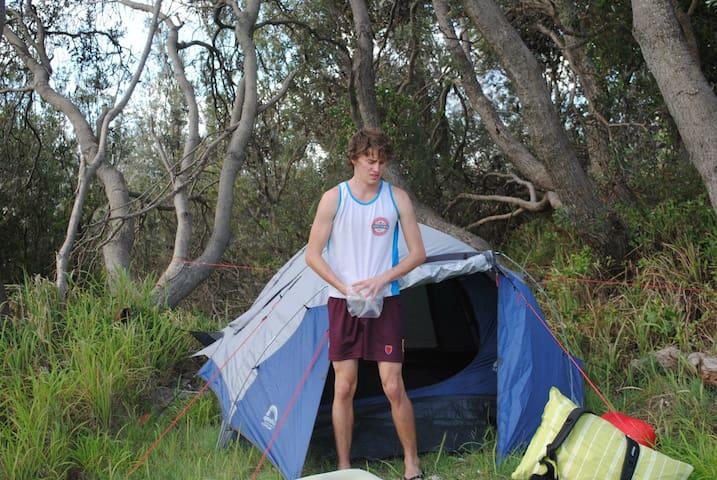 Backyard tent - Ashgrove