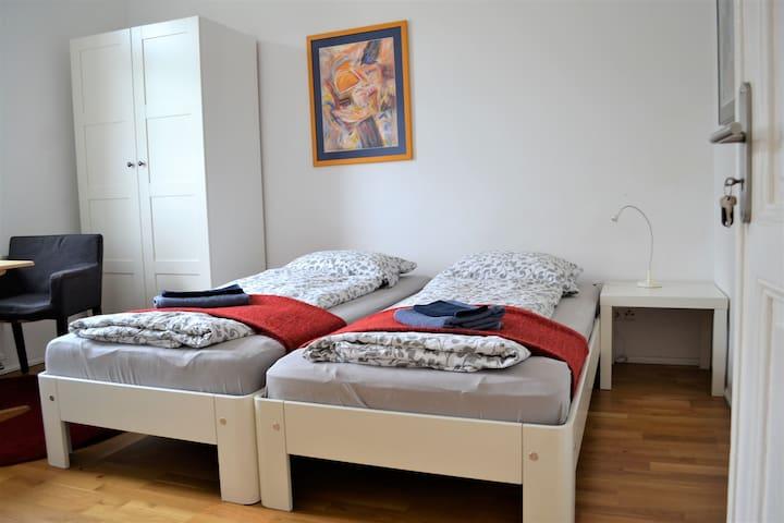 Ruhiges Doppelzimmer Gartenblick Gästehaus