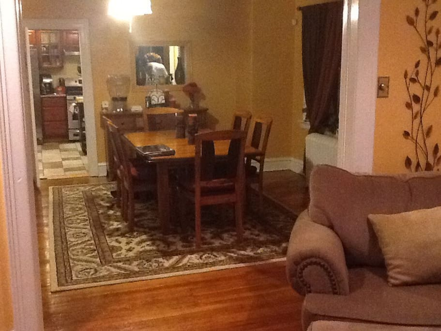 Open floor plan...family and dining room.
