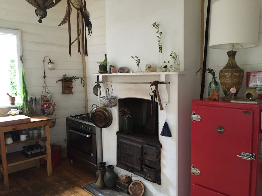 industrial oven, plus an antique fire oven.