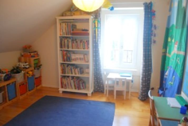 Kids bedroom 2 - this room has now ONE double bed, 140x200cm. Sorry, the pictures are 6 years old!