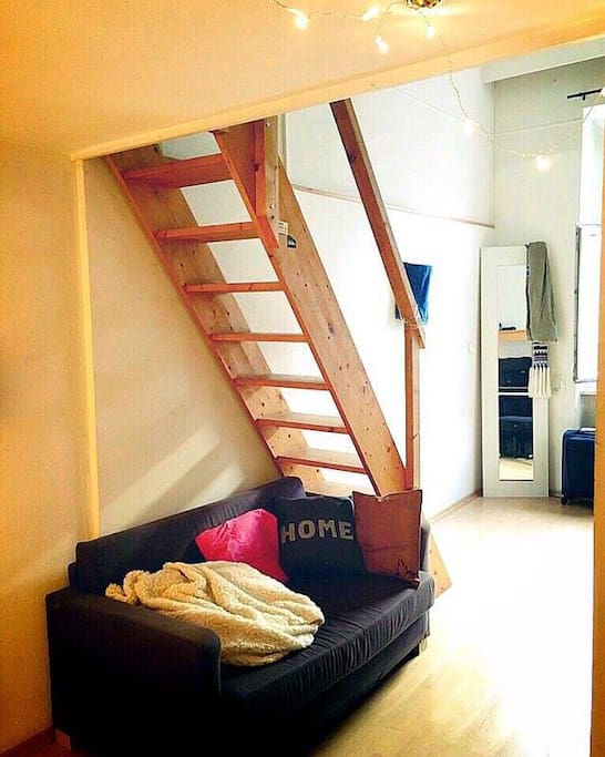 Please note some non-essentials and piano might not be there.Bed is above, maximising space. Sofa will remain there.