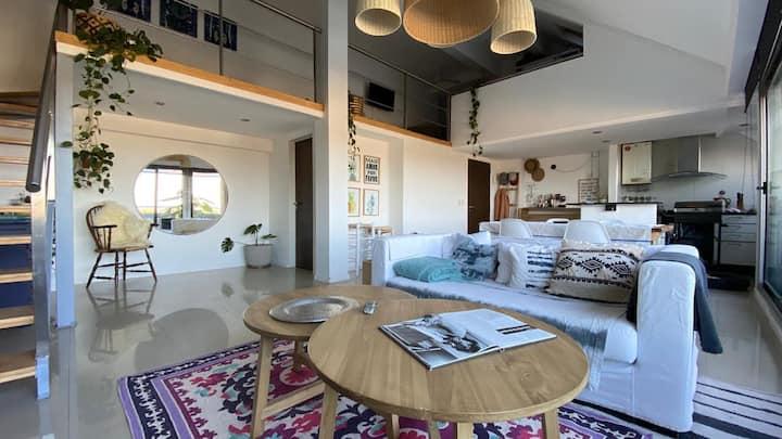 Luminoso loft con terraza y cochera en Tigre
