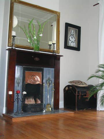 Period fireplace for log fires