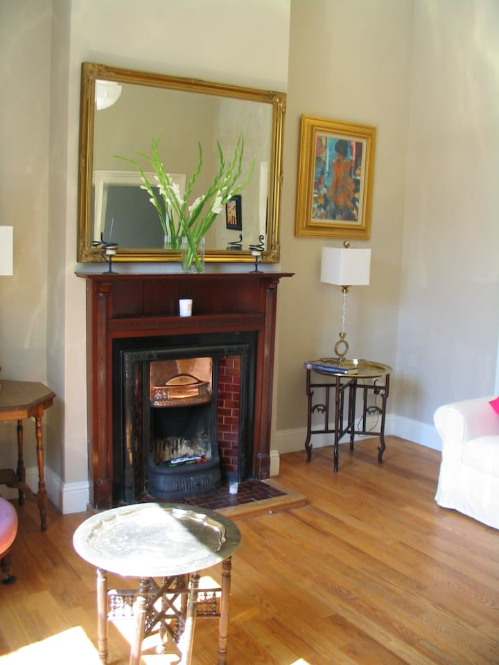 Feature fireplace in Drawing room for log fires
