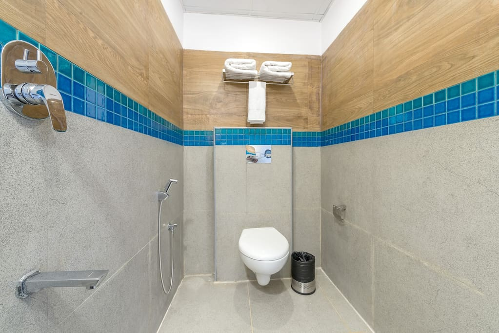 Modern bathrooms with shower