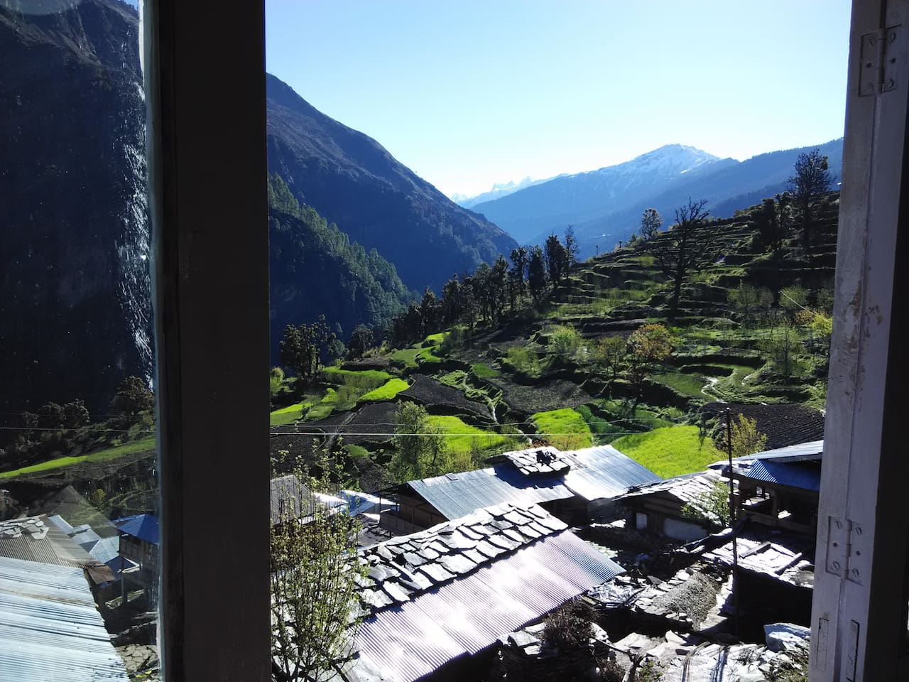 view from window in veranda of the Homestay