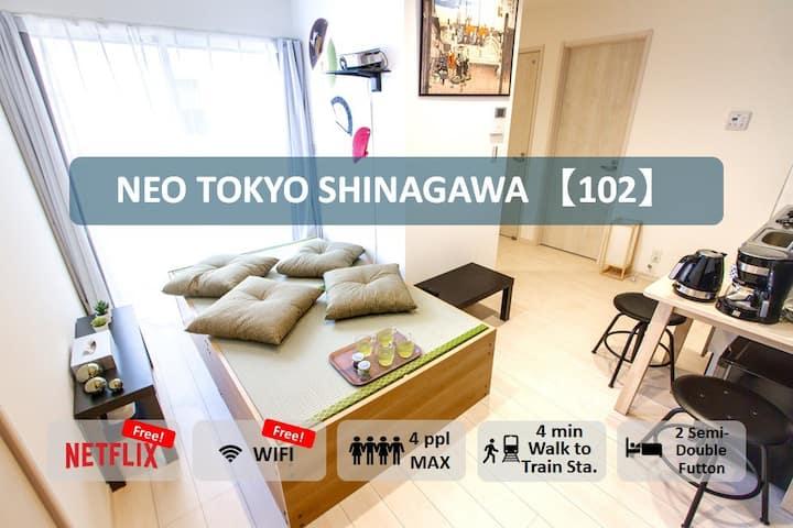 【102】4min to Kita-Shinagawa Sta./FREE WIFI&Netflix