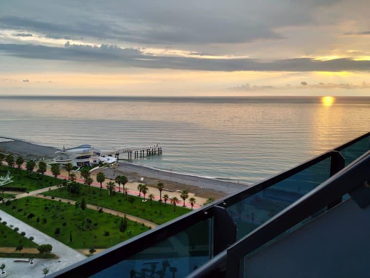 Orbi Beach Tower Lazurit studio amazing sea view