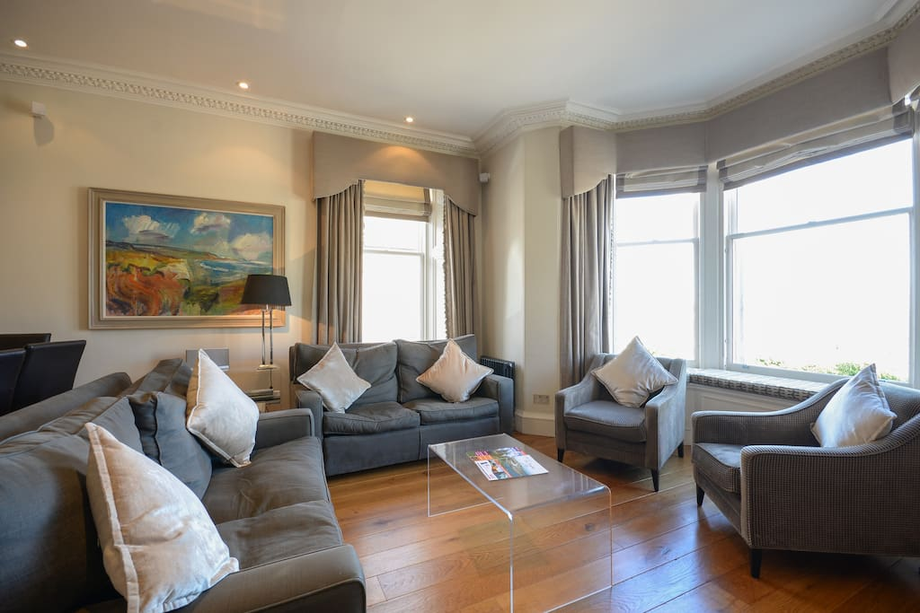 Beautifully appointed lounge with sea views over the West Sands