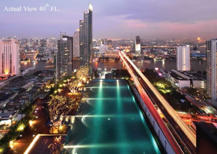 Luxurious River View Condo at the Center of BKK