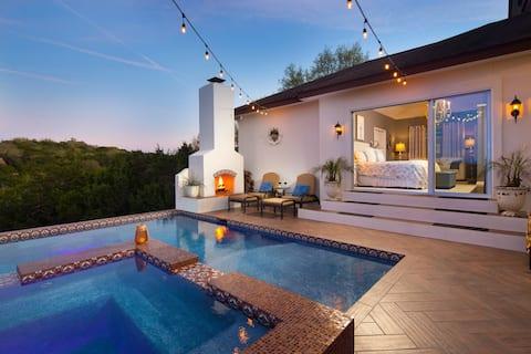 Hill Country Hacienda w/ Stunning View, Pool & Spa