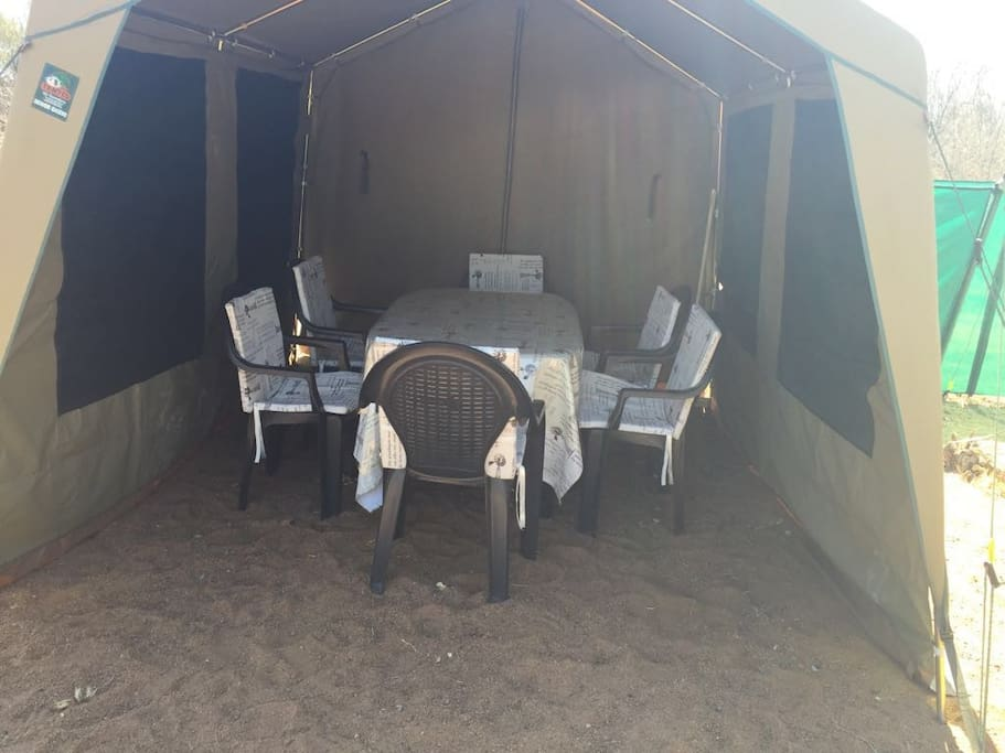 Separate dining tent