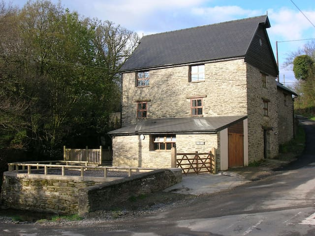 Star Mill, spacious old watermill by a stream - Clydey