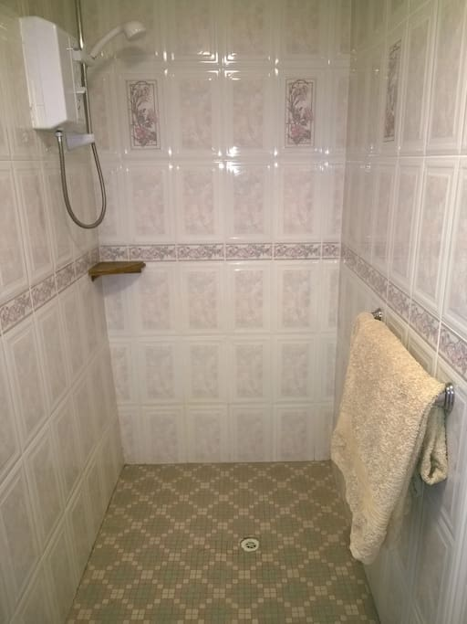 Ensuite shower/wet room.
